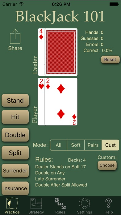 Blackjack Strategy Trainer - 215386
