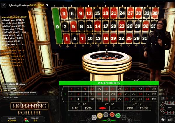 Lightning Roulette - 168046
