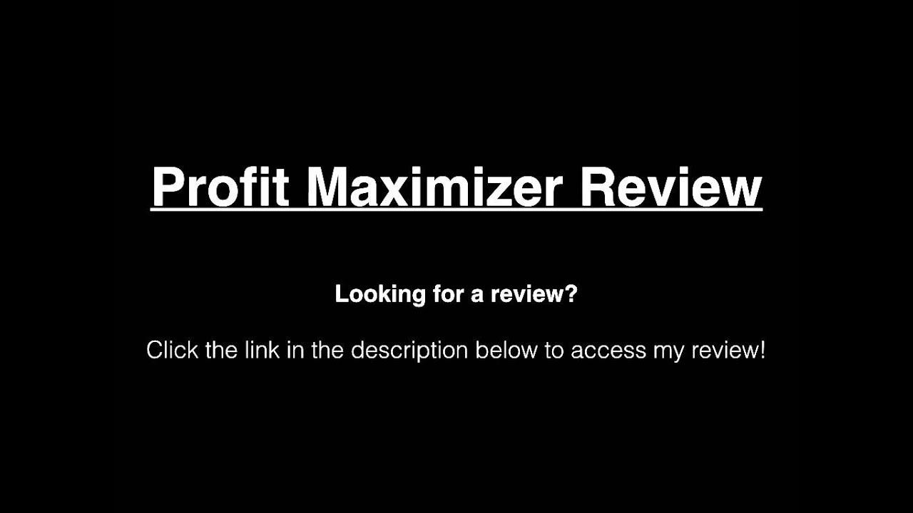 Profit Maximizer - 352388